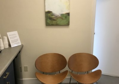 our office waiting room chairs next to counter