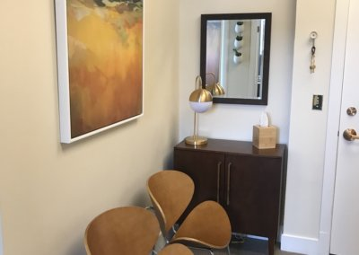 furniture in the office of Evergreen Counseling