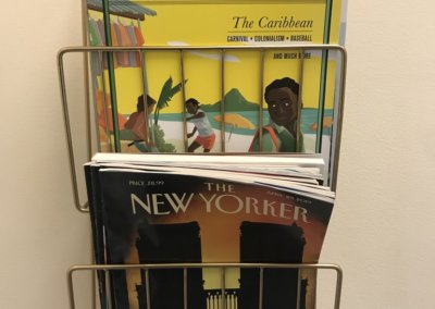 magazines in the office of Evergreen Counseling