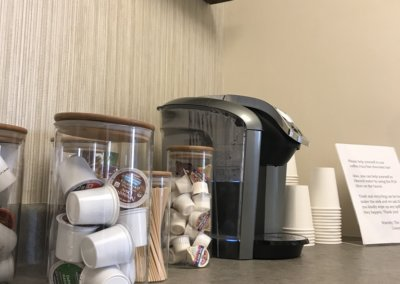 coffee bar in the office of Evergreen Counseling